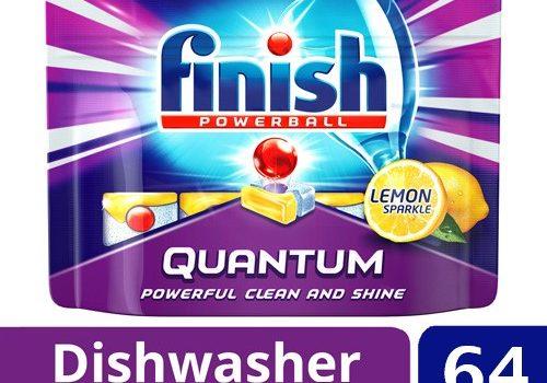 Viên rửa bát Finish Quantum Lemon 64 viên
