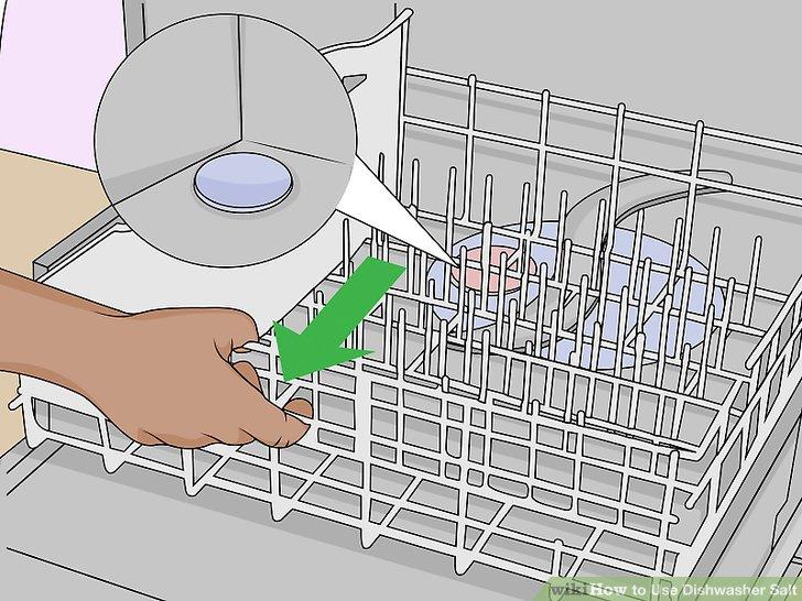 Vị trí khoang đổ muối trong máy rửa bát